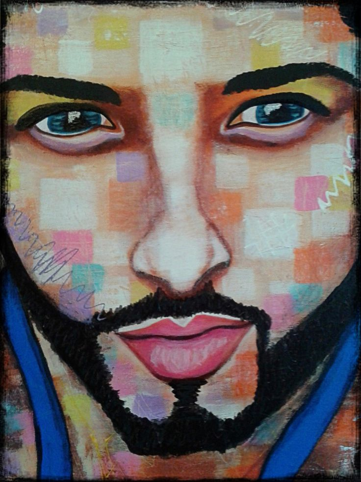 Obsession by STEFANO (only the face)detail acrylic,painting,painter,portrait,artist,art,fashion art,man,faces,modernpainting,fineart,