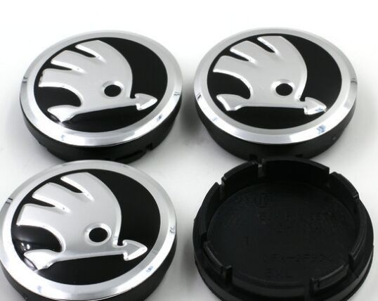 4 UNID * 56mm Manguetas Car Gorras Insignia para skoda Octavia Fabia Yeti Auto Estupendo Centro de Rueda de Coche emblema de coches de estilo