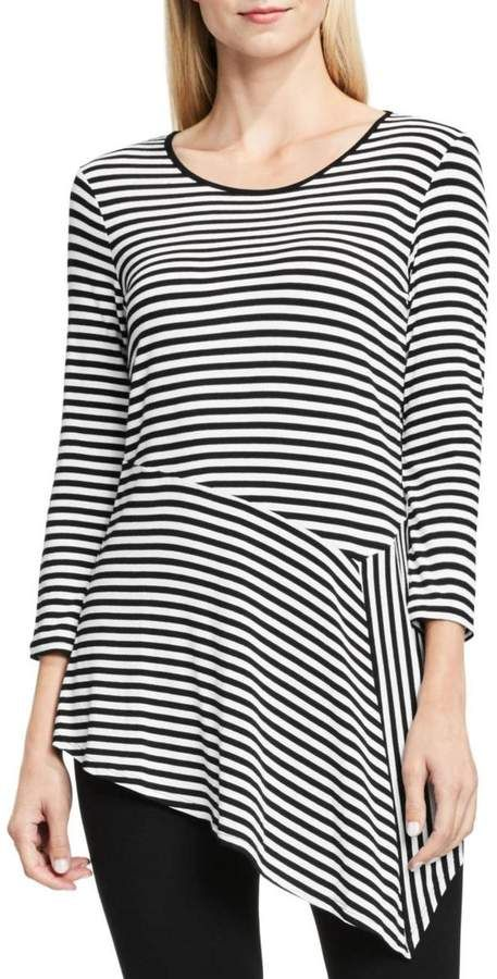 d563745f79948 Vince Camuto Womens Striped Asymmetric Tunic Top  fashion  style  shopping   deals
