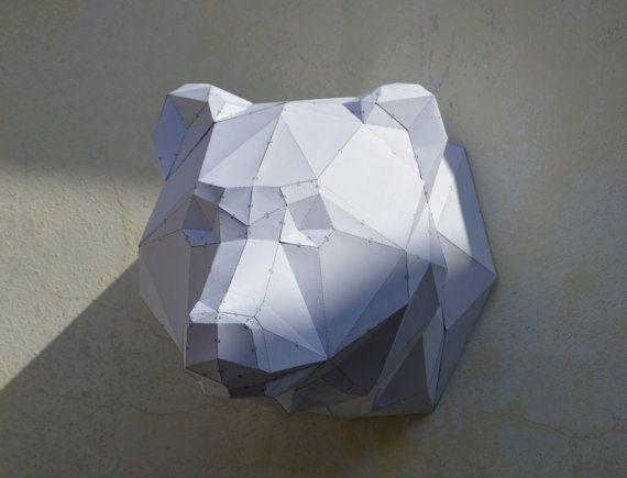 Escultura de oso DIY. Papercraft escultura de por PlainPapyrus