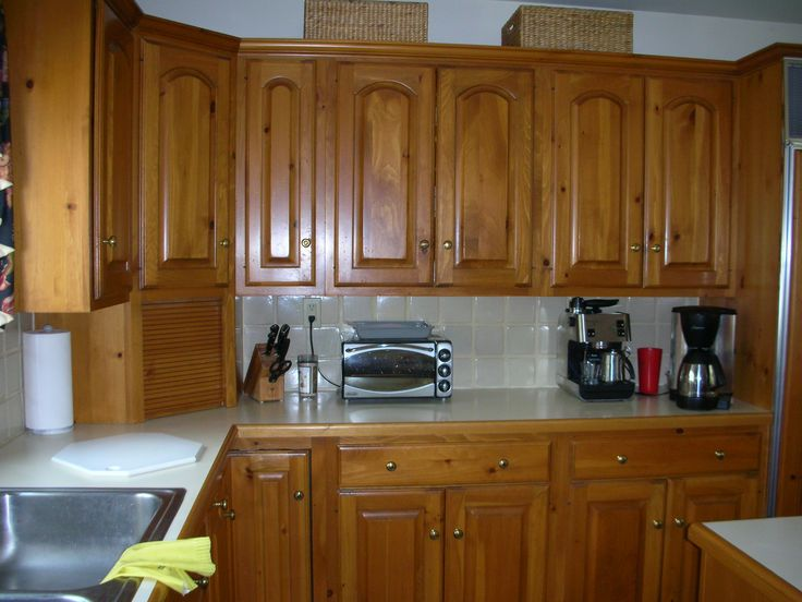 How Restain Kitchen Cabinets Darker Refinishing Old Wall ...