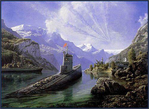 Ubåt i Hardanger
