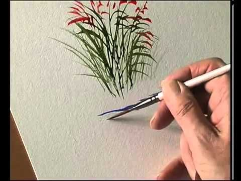 Acuarela. pintar plantas. Vídeo