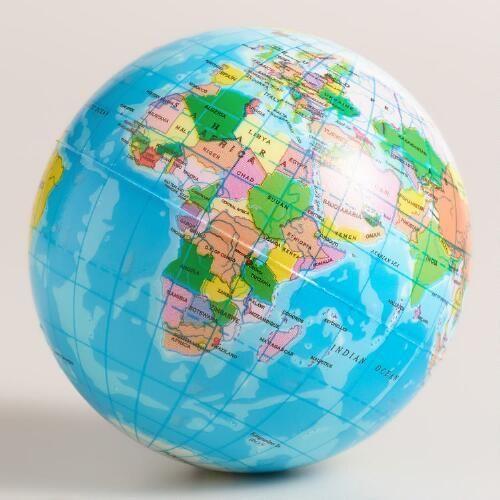 One of my favorite discoveries at WorldMarket.com: Globe Foam Ball
