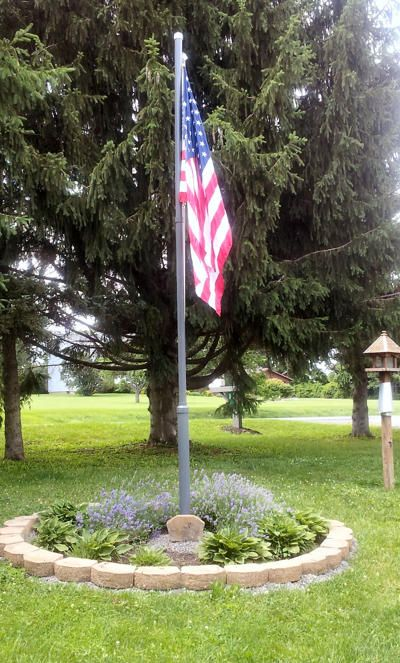DIY Flag Pole- Mr. McGee Takes                                                                                                                                                                                 More