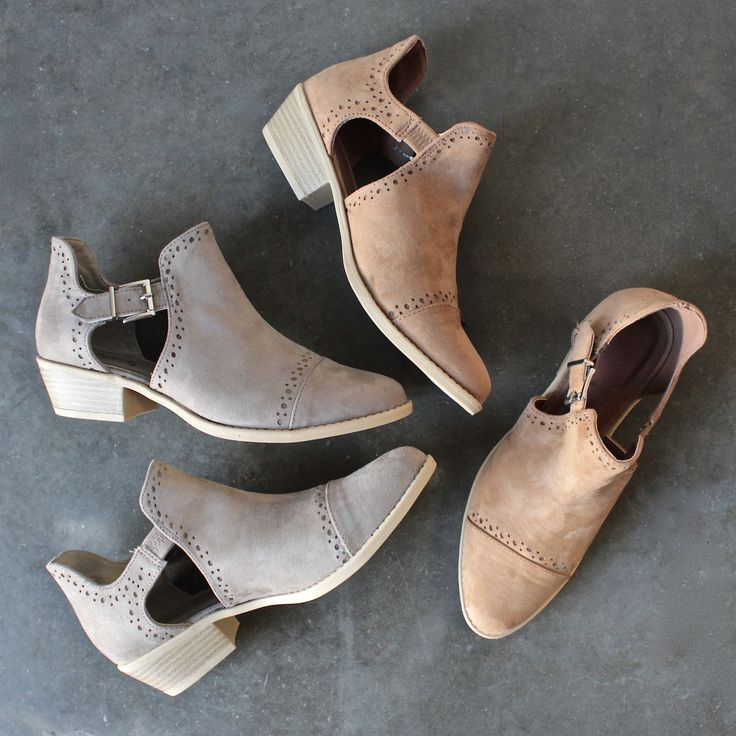 Fashion-forward footwear is the feature of every outfit. Pair these ankle boots with fringes, crochets, and floral headbands for the perf. festival ensemble. i
