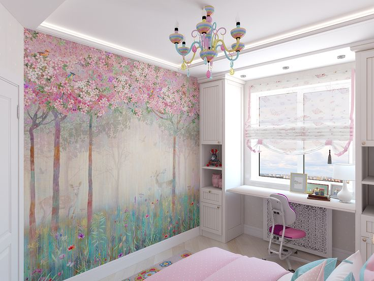 pink room for a young princess