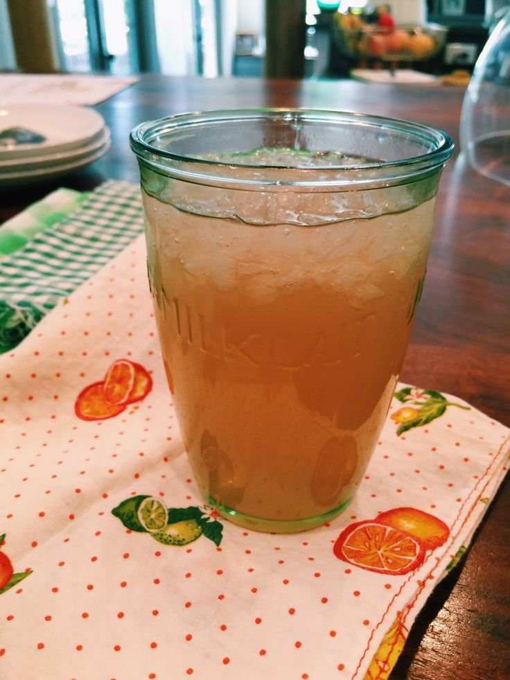 My favorite party punch: Miss Angie's Sweet Almond Tea. Whether it's a shower, brunch or just because you're feeling fancy - this is the drink for you!