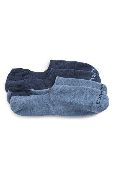Calvin Klein Performance Cushion No-Show Socks (2-Pack)