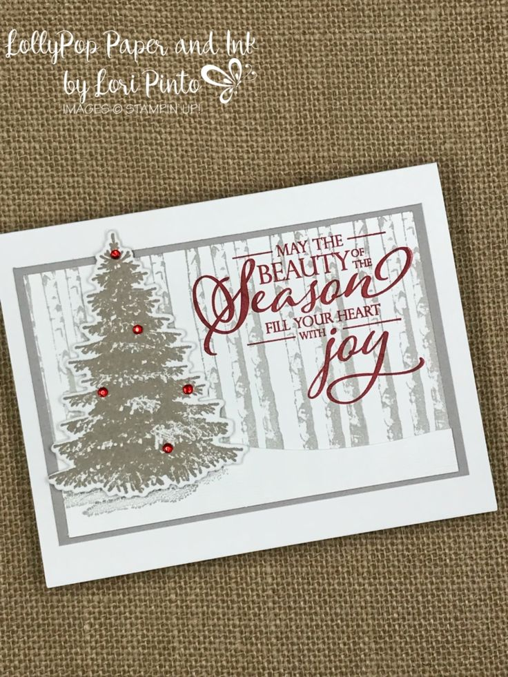 Stampin 'Up! Winter Woods Stempelset und Bundle mit Merry Christmas to All …   – Christmas trees