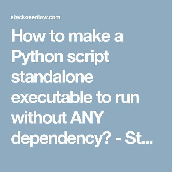 how to create an executable python script