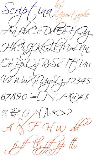 Fancy Cursive Calligraphy Alphabet | Read Review | Download : Mac ~ Windows Type 1 ~ Windows TrueType