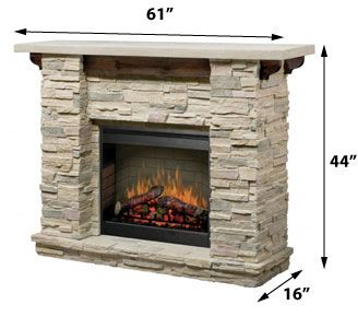The Featherstone complete fireplace suite will impart the relaxed mood of a mountain lodge to any room you choose. The warmth of wood accents in the recessed heater and mantel brackets serve as a rustic compliment to the crisp architectural ledge rock theme.
