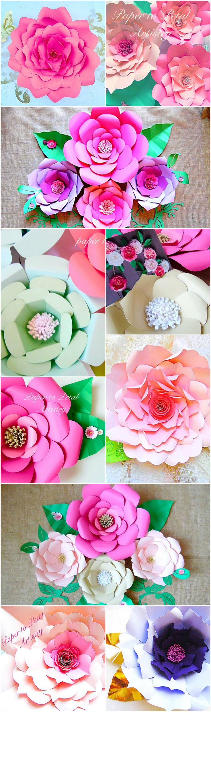 Want to make these beautiful paper flowers for your wedding, baby shower, child's birthday party or any special occasion? It's easy and you can instantly download the templates here!