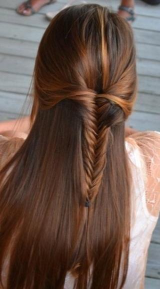 Straight Hairstyles Half Up Half Down Jtzismt