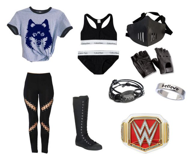 """""""•wwe fighting gear (3)•"""" by katyb101 ❤ liked on Polyvore featuring Calvin Klein, Converse and Erica Anenberg"""