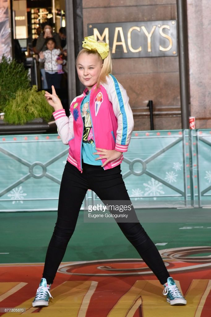 Jojo Siwa performs at Macy's Thanksgiving Day Parade Talent Rehearsals at Macy's Herald Square on November 21, 2017 in New York City.