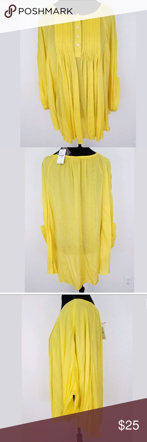 Lane Bryant 22/24 Yellow Poncho Batwing Top Blouse Lane Bryant 22/24 Poncho Batwing Top Blouse Plus size Yellow India Rayon NWT. Beautiful Plus Size Top!!! Lane Bryant Tops Blouses