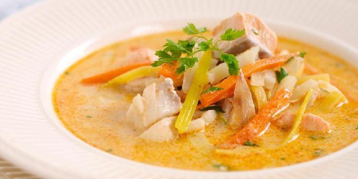 Ønsker du å variere suppen, kan du tilsette ferske reker eller blåskjell.