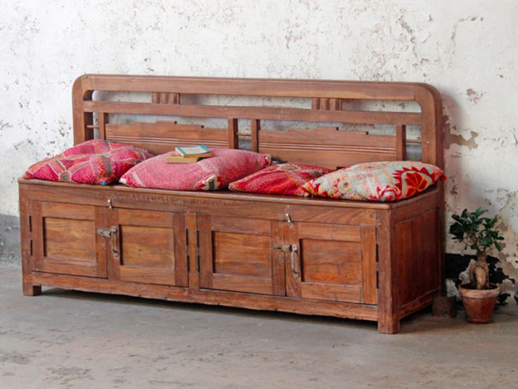 This large and super impressive vintage solid teak colonial storage bench is truly a Scaramanga special. #vintage #homedecor #homeinterior #saleitem #kitchenideas