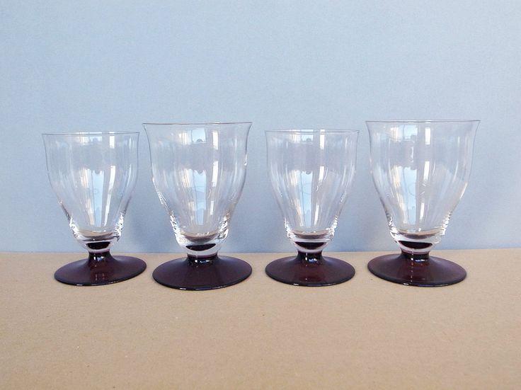 4 Dutch Vintage Wine Glass by Kristalunie Maastricht W. J. Rozendaal 1934 by PineBook on Etsy
