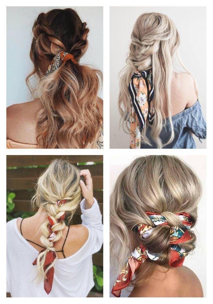 7 Praktische Frisuren Fur Die Feiertage Bandanahairstylescurly Die Feiertage Frisuren Hairscarfstyles In 2020 Scarf Hairstyles Hair Styles Long Hair Styles