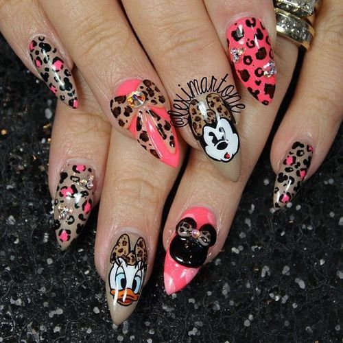 Disney Nails..love the design, not the pointy tips