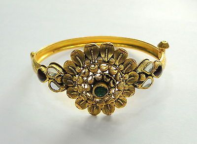 Gold Bangle 22k Solid Gold Cuff Bracelet fine handmade jwellery traditional