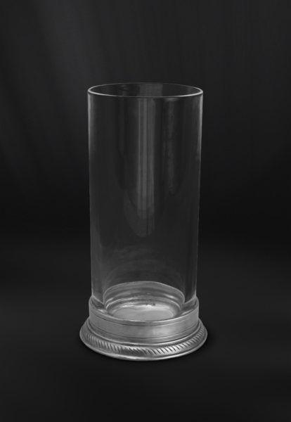 "Crystal & Pewter Long Drink Glass ""Highball"" - Height: 16 cm (6,3″) - Food Safe Product - #pewter #crystal #long #drink #glass #highball #peltro #cristallo #bicchiere #cocktail #zinn #kristallglas #glas #étain #etain #cristal #verre #peltre #tinn #олово #оловянный #glassware #drinkware #barware #accessories #decor #design #bottega #peltro #GT #italian #handmade #made #italy #artisans #craftsmanship #craftsman #primitive"