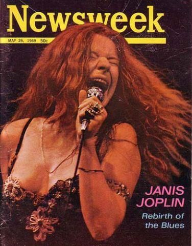 Janis Joplin on the cover of Newsweek May 26, 1969