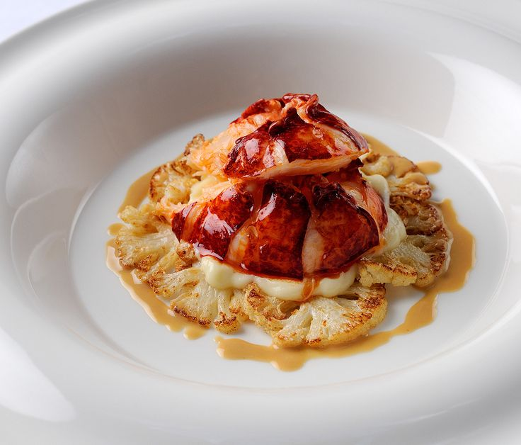 Poached Lobster Tail with Cauliflower and Lobster Butter Sauce | William Drabble