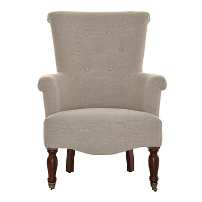 Grace Bonded Leather Wheat Chair