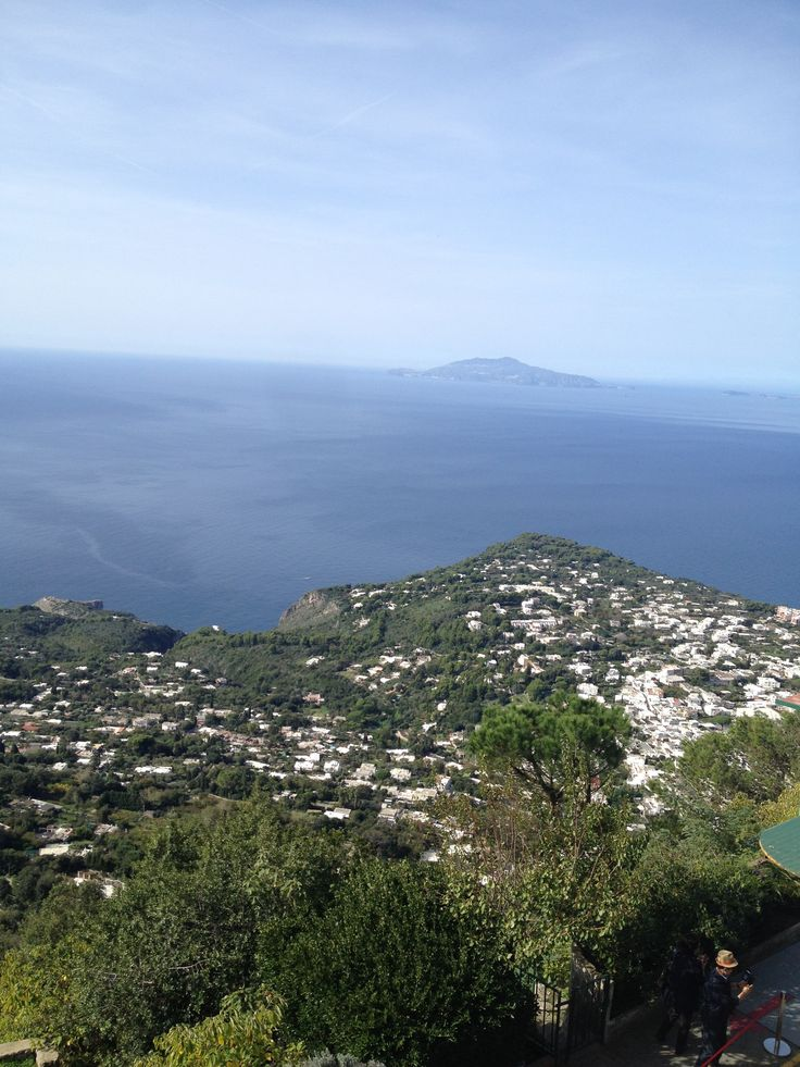 Capri islalnd is on the south side of Gulf of Naples, Italy.