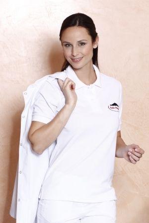 Damen-Polo Top >> Poloshirt Woman-Top-Polo - Hochwertiges, feinmaschiges Piqué-Poloshirt aus langstapeliger, ringgesponnener Baumwolle mit körpernahem Schnitt.