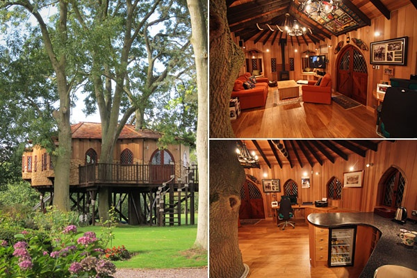 Dave MancaveTreehouse Homes: Cool Trees Houses, Treehouse Offices, Call Trees, Hogwarts Trees, Treehouse For Adult, Arches Window, Awesome Treehouse, Treeful Treehouse, Dreams Tre Houses