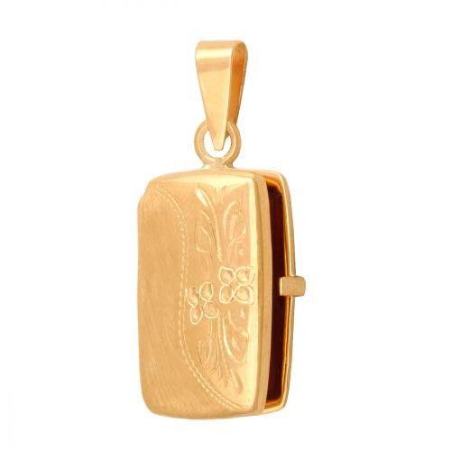 Złoty wisiorek puzderka