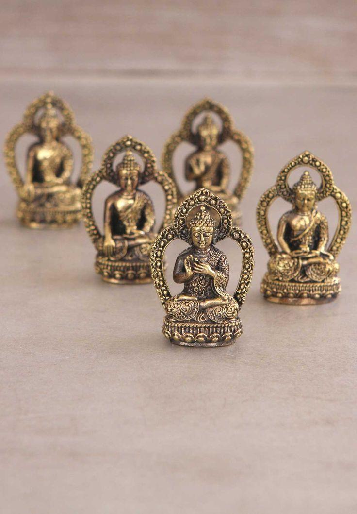 Set of 5 Buddha Statues