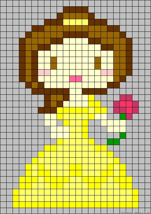 Disney Belle perler bead pattern