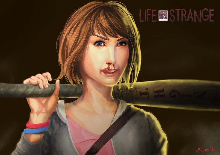 Life is Strange: I'm Back for You!  Don't mess around with time traveler! Or you will get kill several times ;P   Max back in time to seek revenge, killing bad guys (especially Mr. Jefferson) over and over!  I don't believe it, my first fanart for Life is Strange is bizarre Max... #lifeisstrange #maxine #max #nosebleed #fanart #digital #drawing