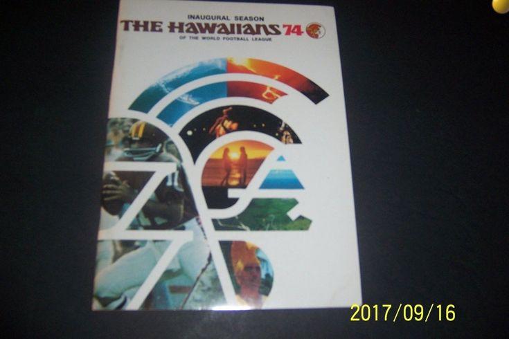 1974 THE HAWAIIANS Media Guide YEARBOOK Jim FASSEL Dave BUCHANAN WFL   eBay