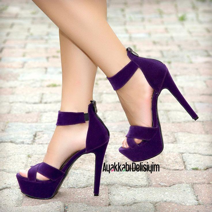Mor Topuklu Ayakkabı #purple #heels