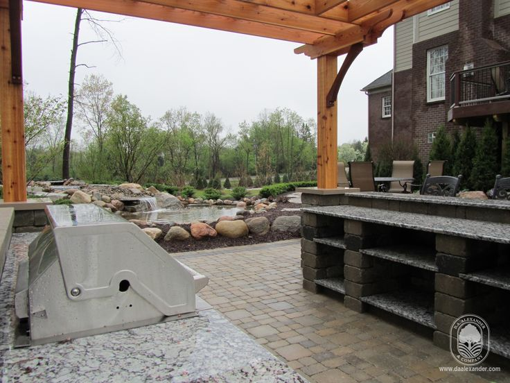 Outdoor kitchens and entertainment areas.  www.daalexander.com