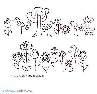 free hand stitching patterns | something for you: free patterns! | Cul de Sac
