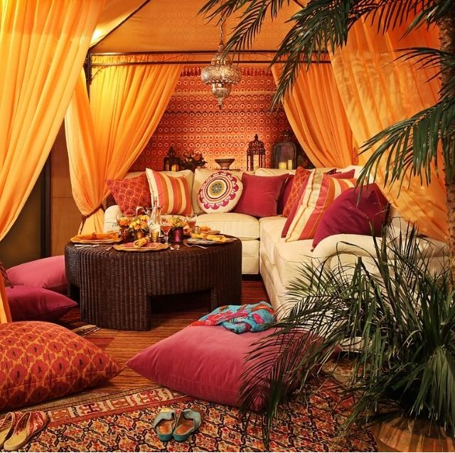 Absolutely love this Moroccan style decor