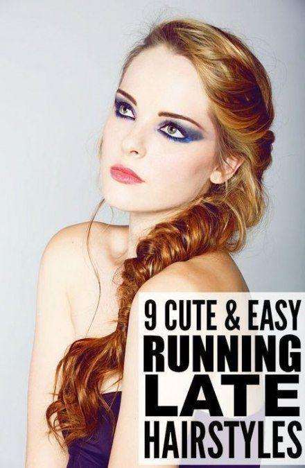 Trendy hairstyles easy fast lazy hair ponytails ideas - HAI ¼ ...,  #Easy #FAST #hai #Hair #H...