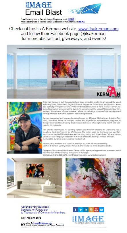 #Image #Magazine #email #Blast - 11-21-17 -- Check out the Its A Kerman website,www.Itsakerman.com  and follow their Facebook page Its A Kerman for more abstract art, giveaways, and events! ------- ➡ http://p0.vresp.com/88Aamb ------- #brooklyn #nyc #newyorkcity #Deal #NewJersey#Florida ------------- #imagealerts #imageusa #imagemagazine #textmarketing #imagealerts #imagemagazine  #imagemagazineonline #text #textadvertising…
