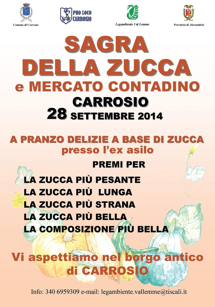 Sagra della Zucca a Carrosio http://www.distrettonovese.it/index.php?method=section&action=zoom&id=63859