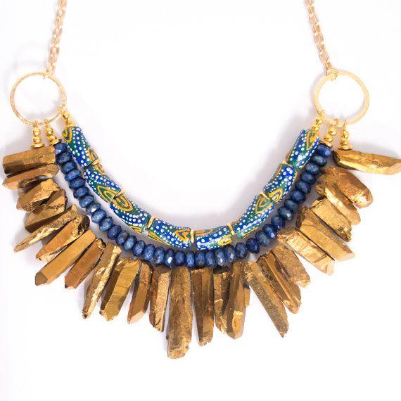 African Necklace, Tribal, Boho, MillerMaeDesigns, Handmade Jewlery, Bohemian