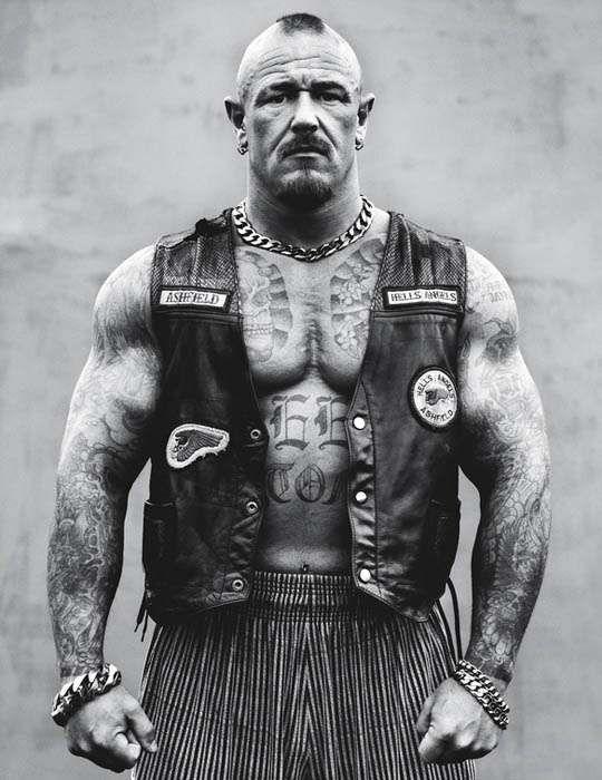 Hell's Angels Portraits  Andrew Shaylor Lenses Badass Bikers Across America #portraits #biker