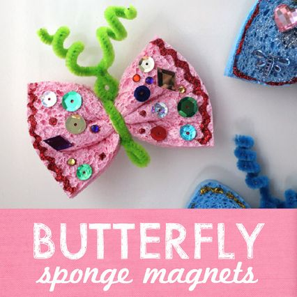 These are adorable! Thinking we could turn this into a hide and seek game so the girls could actually catch a butterfly in their bug nets lol :)